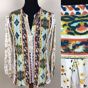 Tiny Anthropologie long sleeve blouse size S